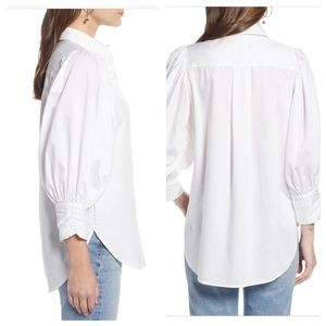 d29cd30d Something Navy Tops - 🆕 Something Navy White Full Puff Sleeves ButtonUp